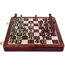 Agirlgle International Chess Set with Folding Wooden Chess Board and Cla... - $77.18