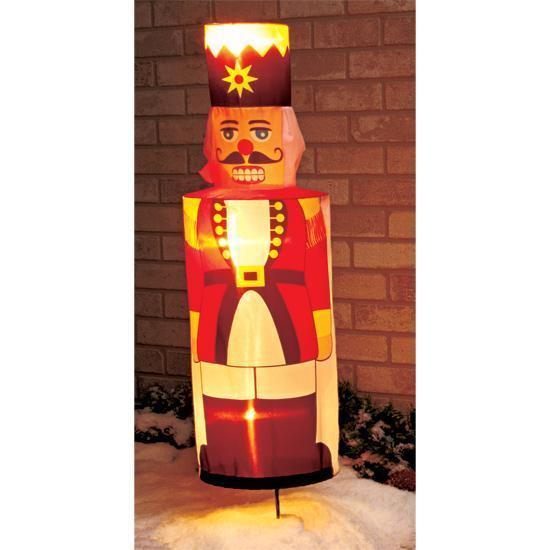 Giant Inflatable Lighted Nutcracker Soldier 8ft Airblown ...   Lighted Nutcracker Soldier