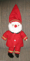 """HANDMADE SANTA CLAUS PLUSH WITH HAND SEWN OUTFIT CLOTHES CHRISTMAS 16"""" V... - $109.99"""
