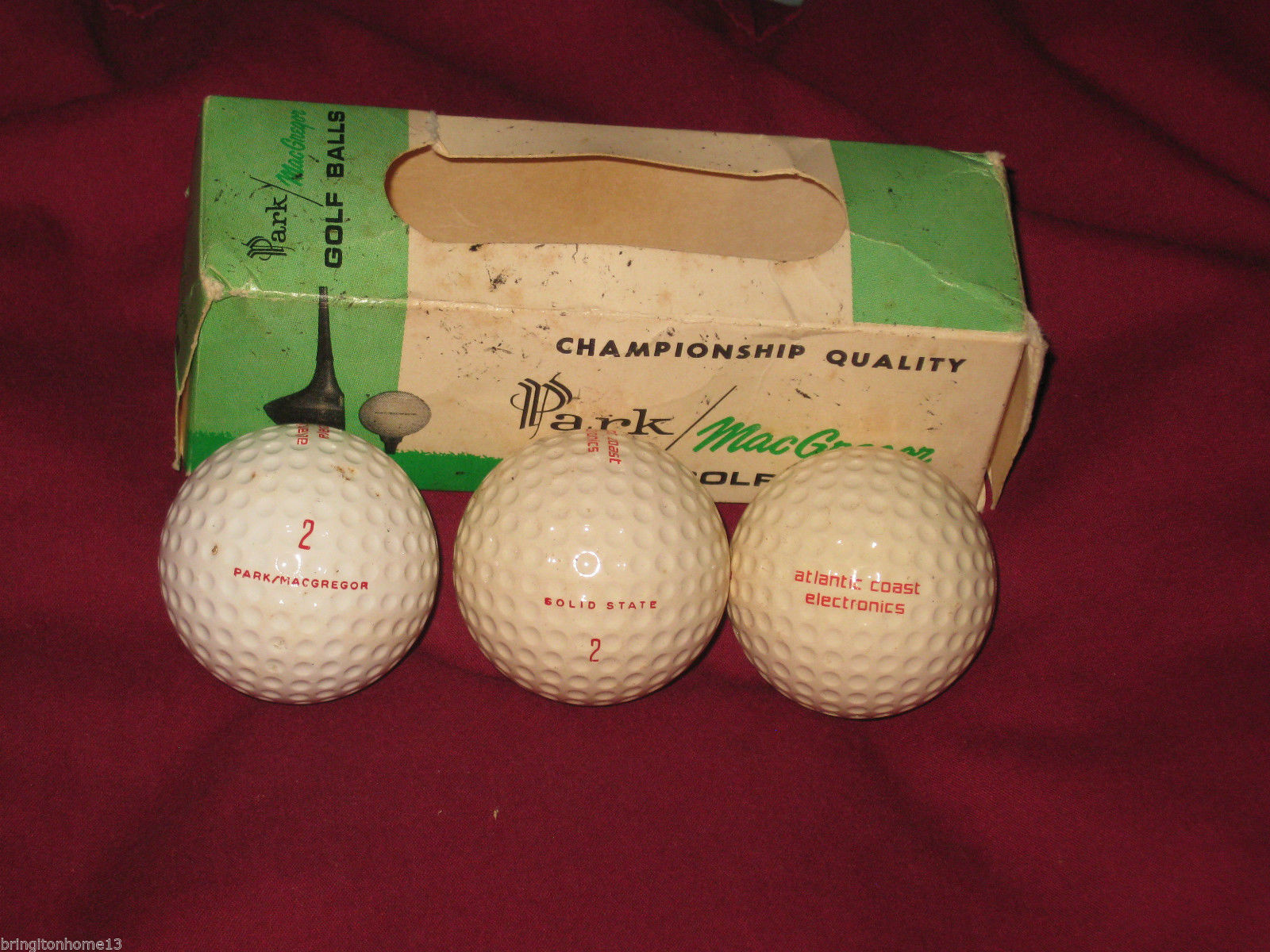 8a243f33654 PARK MacGregor SLEEVE OF 3 GOLF BALLS VINTAGE Atlantic Coast Electronics  LOGO -  39.99