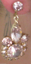 SIGNED WEISS EARRINGS PEAR ROUND SQUARE AURORA BOREALIS AMETHYST RHINEST... - $329.99