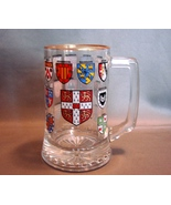 University of Cambridge UK Glass Stein with Shields of the Colleges  - $12.99
