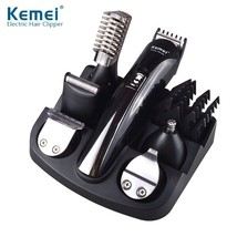 Hair Trimmer 6 in 1 Rechargeable Beard Shaving Machine Titanium Electric... - $32.30