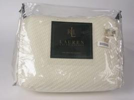 Ralph Lauren Full Queen BRAID BLANKET Cream Ivory - $123.45