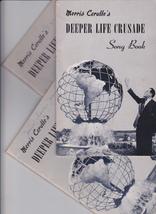 DEEPER LIFE CRUSADE SONG BOOKS - MORRIS CERULLO - SET OF 3 - $6.99