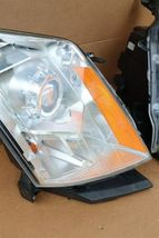 2010-15 Cadillac SRX Halogen Headlight Head Light Set LH & RH - POLISHED image 5