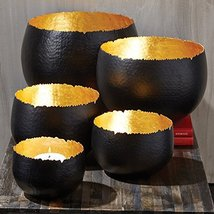 Tozai Golden Rule Set of 5 Gold Leaf Candlehold... - $299.99