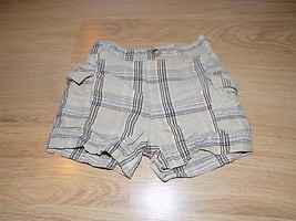 Infant Size 0-3 Months First Moments Layette Tan Khaki Plaid Summer Carg... - $7.00
