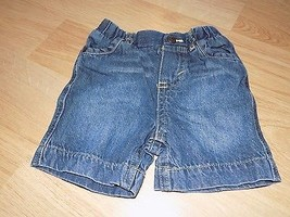 Infant Size 6-9 Months Genuine Baby Oshkosh Denim Blue Jean Summer Short... - $10.00