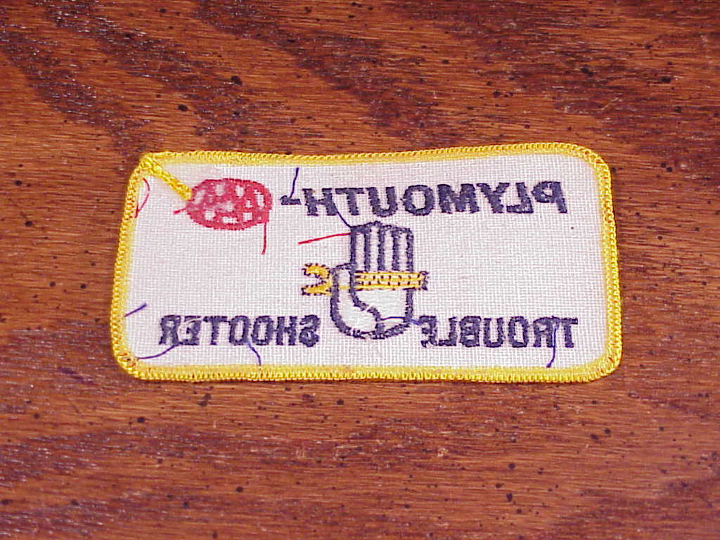 Plymouth AAA Trouble Shooter Competition Patch
