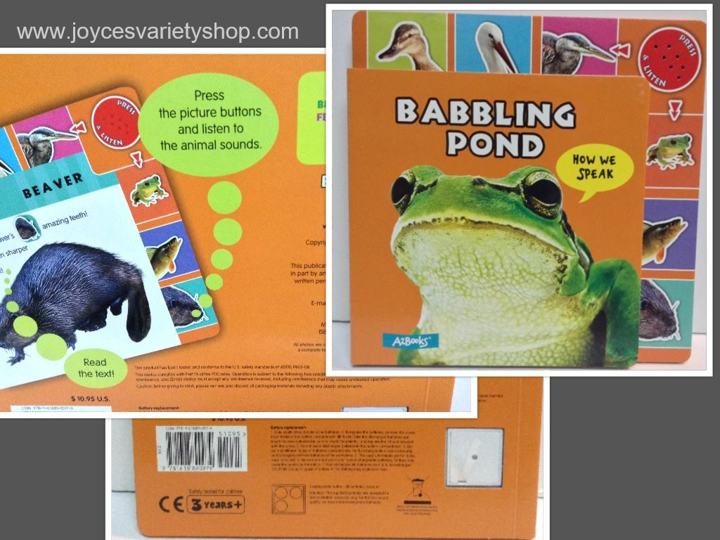 Babbling pond childrens book collage