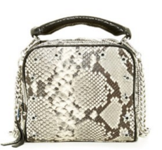 Ash Frankie Snake Skin Leather Crossbody $110 - $110.00