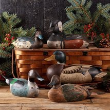 Two's Company Hand Carved Duck Figurine, Set of 5 - $350.00