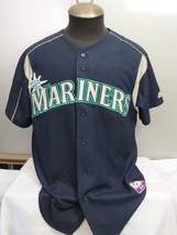 Seattle Mariners Jersey - Away Blue Jersey -  By Majestic - Men's Large  - $79.00