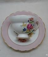 Vintage Rosina Bone China Floral Design Tea Cup with Saucer - Made in En... - $17.00