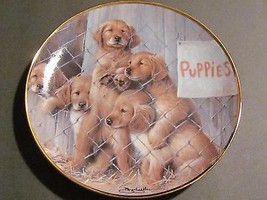 Franklin Mint Adopt A Puppy Collectors Plate Go... - $12.85