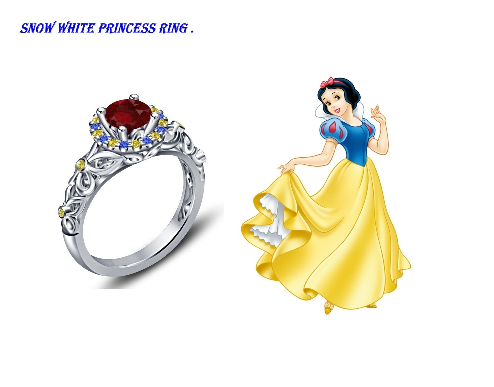 Disney princess snow white engagement ring and 50 similar for Snow white wedding ring