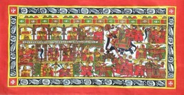 Phad Scroll Painting Handmade Rajasthan Indian Miniature Folk Decor Ethn... - $114.99