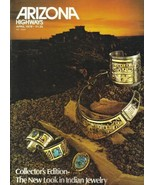 VG INDIAN JEWELRY 1979 APRIL ARIZONA HIGHWAYS GOLD SILVER TURQUOISE BEAD... - $24.40