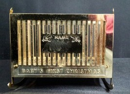 """Baby's First Christmas""- Brass Christmas Ornament - $9.99"