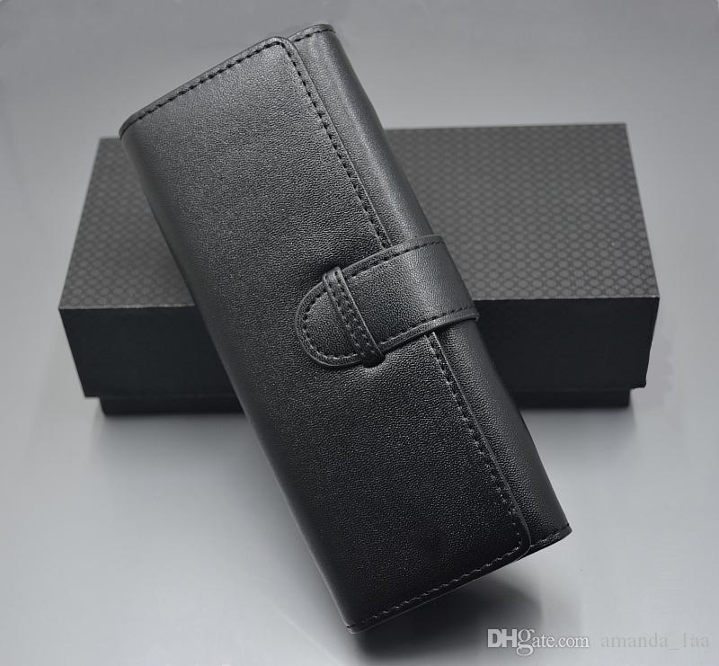 2018 New Arrive Luxury Leather black mb Pen pouch bag for gift High Quality bran