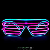 GloFX Luminescence Shutter Frames- Cyan and Pink Rave EDM Diffraction Glow Party - $31.95