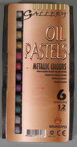 12 Oil Pastels Metallic Colours by Gallery - $7.95