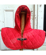 Renaissance Medieval Cotton Padded Armor Collar and Coif-Arming Cap - Red - $35.00
