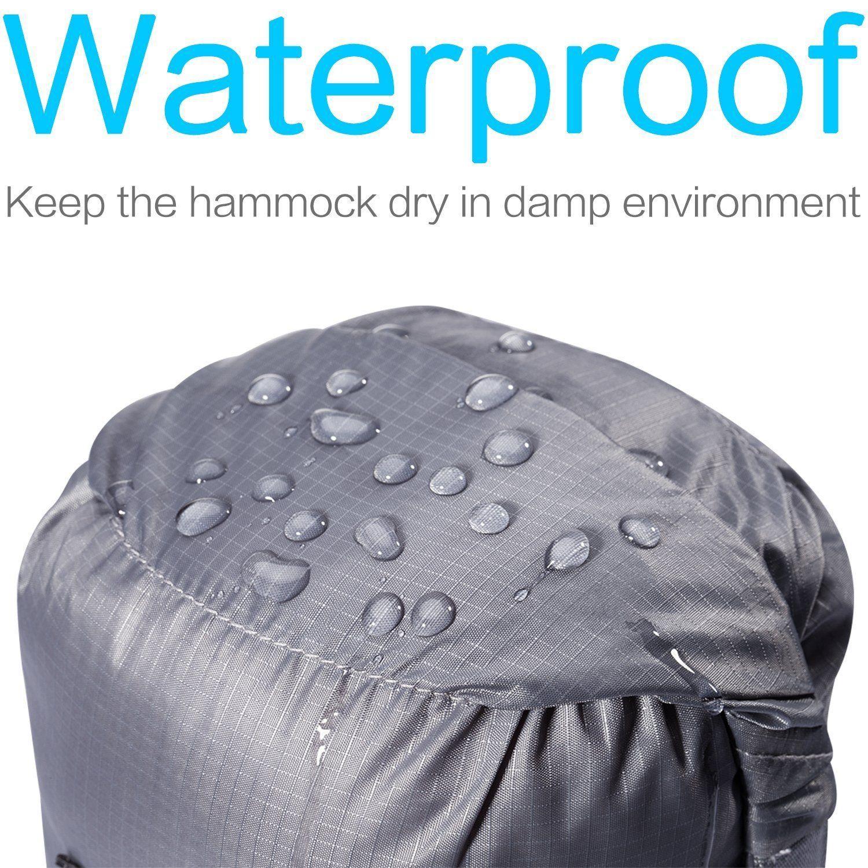 Birmi Portable Double Hammock with Straps Waterproof Sack 500lb New
