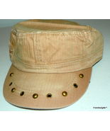 Designer Military Cadet Inspired Fashion baseball hat or cap with metal ... - $20.00