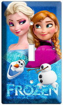 Disney Frozen Elsa And Anna Sisterly Love Single Light Switch Plate Girls Room - $8.99