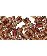 Lot 100 PAINTED WOOD ART Craft  BEAD~12mm Tube~WoodArt - $6.72