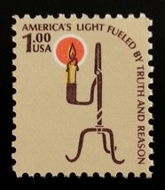 1979 $1 Americana Issue, Rush Lamp Scott 1610 Mint F/VF NH - $1.99