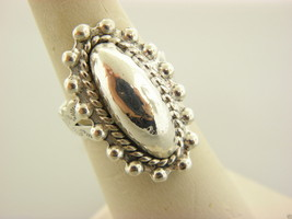 Sterling Silver 925 Antique Detailed Ring Size 7.5 & Adjustable #4 - $13.86