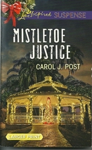 Mistletoe Justice Carol J Post(Cedar Key #3)(Love Inspired LP Suspense)P... - $2.25