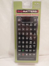 BIG MATTERS Universal Remote Jumbo TV Television NIB multi NEW HUGE BUTTONS - $24.19