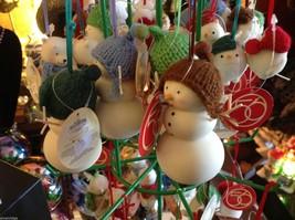Miniature white snowman ceramic knit hat color choice dept 56 new Knit Wit image 3