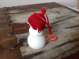 Miniature white snowman ceramic knit hat color choice dept 56 new Knit Wit image 5