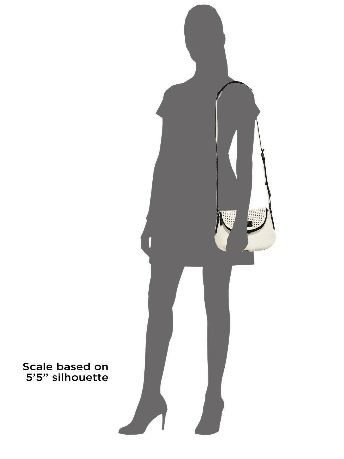 Marc by MARC JACOBS New Q Perforated Mini Natasha Bag  Black/Milk image 2