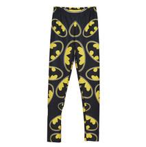 Batman Logo Womens Leggings Cartoon Sports Black Pants Bat Man Slim Tights - $21.99