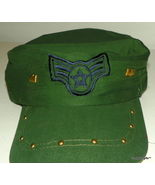 Designer Military Cadet Inspired Fashion baseball hat or cap with metal ... - $16.99