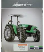 2008 Deutz-Fahr Agrolux 60, 70 Tractors Brochure - $5.00