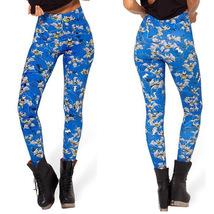 Batman Womens Blue Leggings Cartoon Sports Pants Bat Man Workout Slim Ti... - $21.99