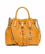NWT MICHAEL KORS Camden Medium Leather Drawstri... - $274.55