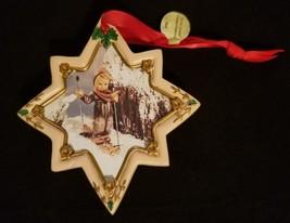 "Hummel Christmas Ornament Danbury Mint Eight Pointed Star Shaped ""Skier"" - $8.15"