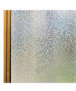 Lectrostatic laser 3d bathroom glass sticker film window stickers sunscreen paper mica thumbtall