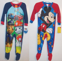 Mickey Mouse & Paw Patrol Toddler Boys Blanket Sleepers PJs Sizes 3T,4T ... - $12.34