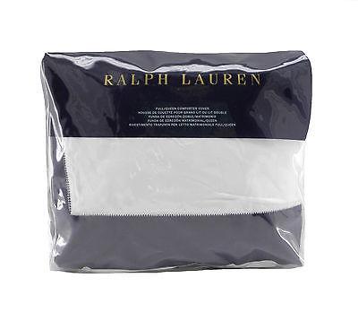 New Ralph Lauren Langdon KING Duvet Comforter Cover Dark Metropolitan Gray White
