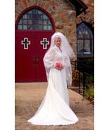 Ivory Wedding Dress Bridal Set in Chantilly Lac... - $370.00