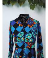 Womens Designer Maxi Dress, Vintage Long Sleeve... - $125.00